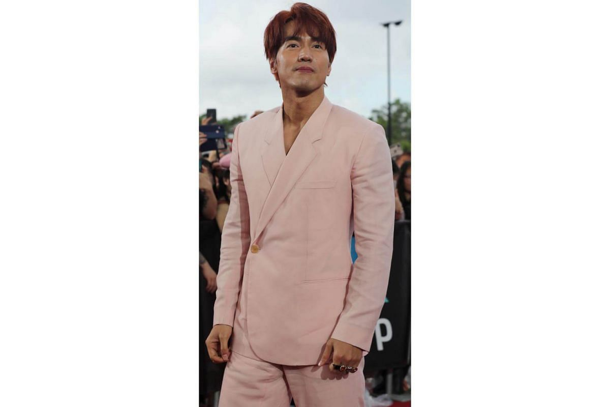 Taiwanese actor Jerry Yan appears at the Walk Of Fame for the Star Awards.