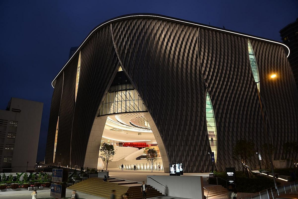 New performing arts venue Xiqu Centre (above) offers different forms of traditional Chinese opera.