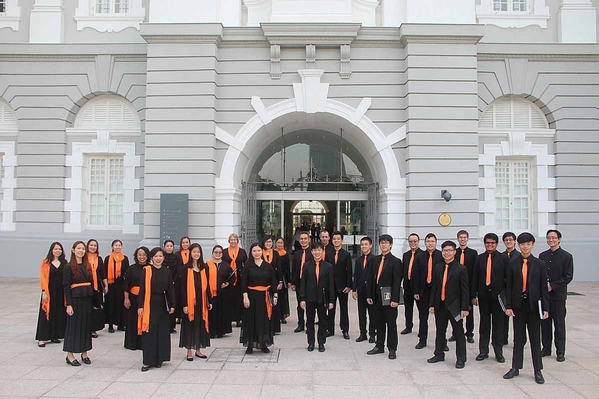 Choral group Schola Cantorum Singapore will perform at the Esplanade with six soloists from Sydney's The Choir of St James'.