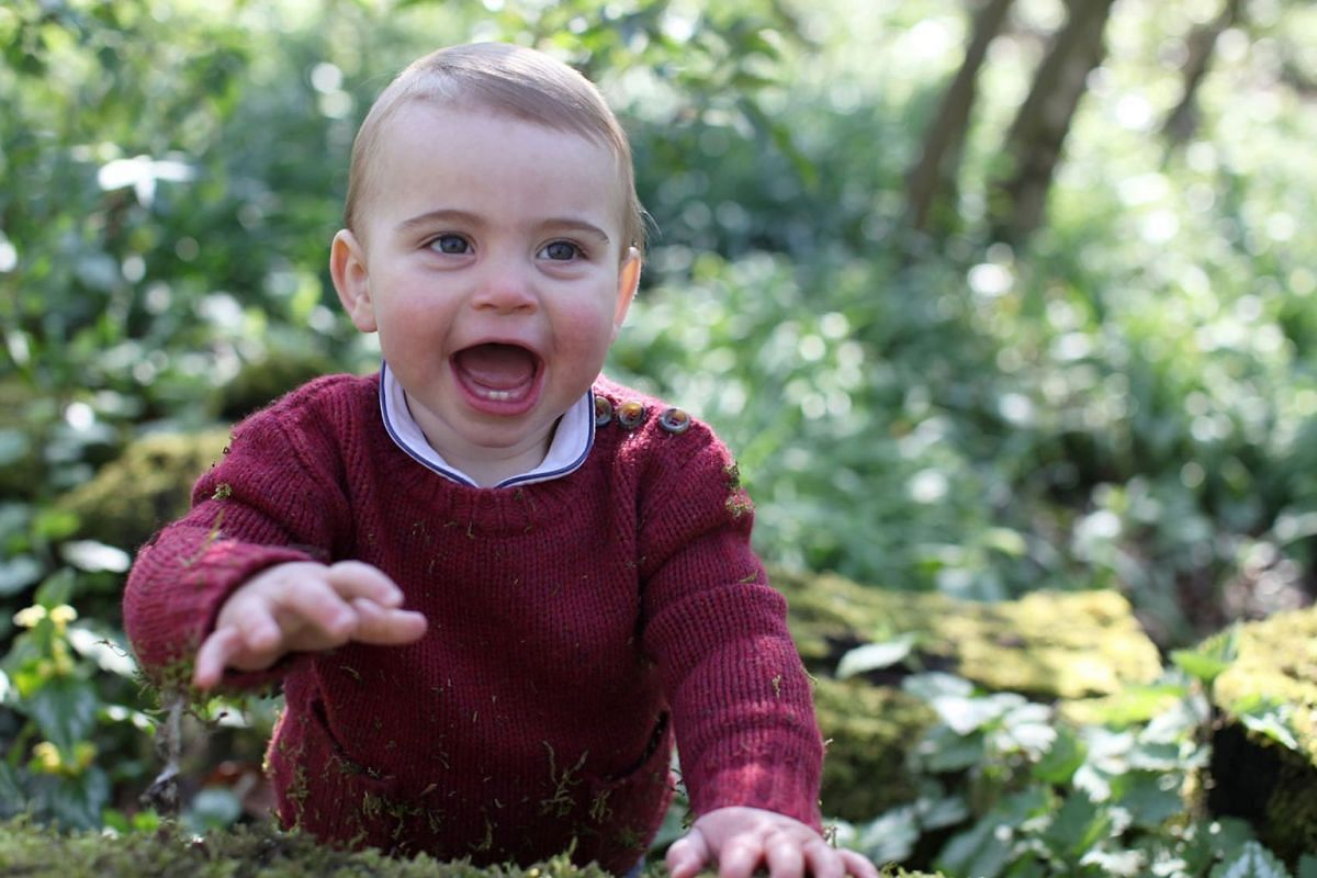 Undated handout photo of Britain's Prince Louis taken by his mother Catherine, Duchess of Cambridge, earlier this month at their home in Norfolk, Britain April 22, 2019. PHOTO: DUCHESS OF CAMBRIDGE HANDOUT VIA REUTERS