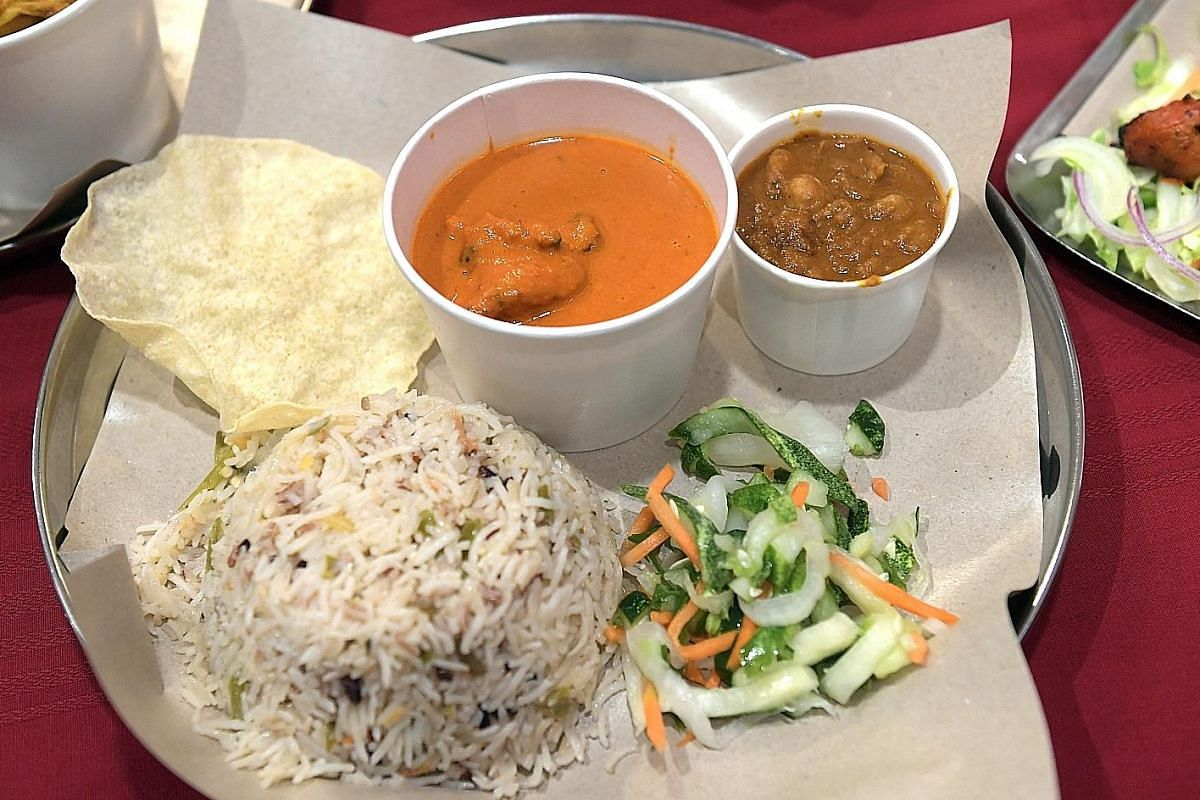 At Prata Wala outlets, customers can opt for biryani (above) which has brown and purple rice added to the usual basmati rice.