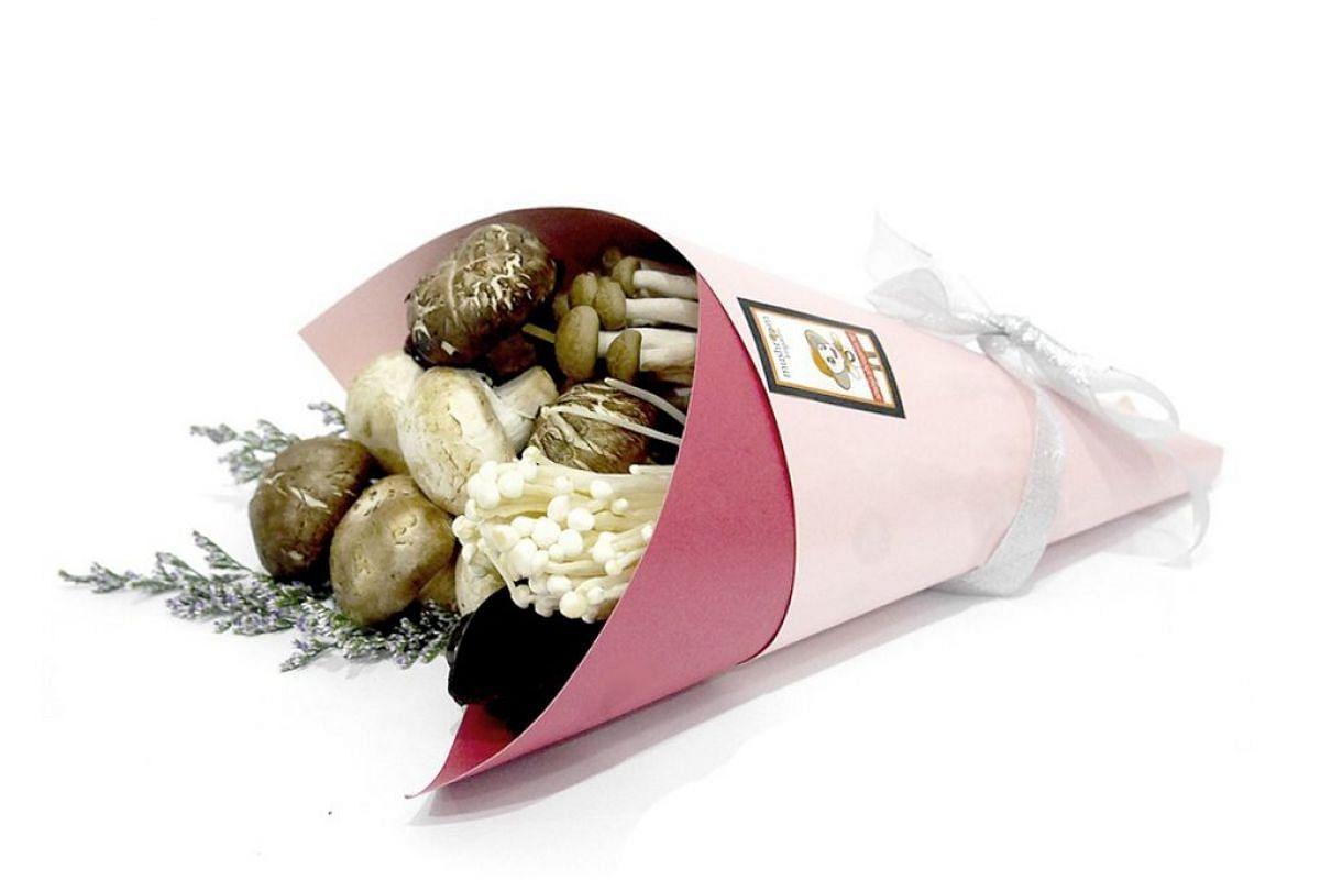 DIY mushroom bouquet kit