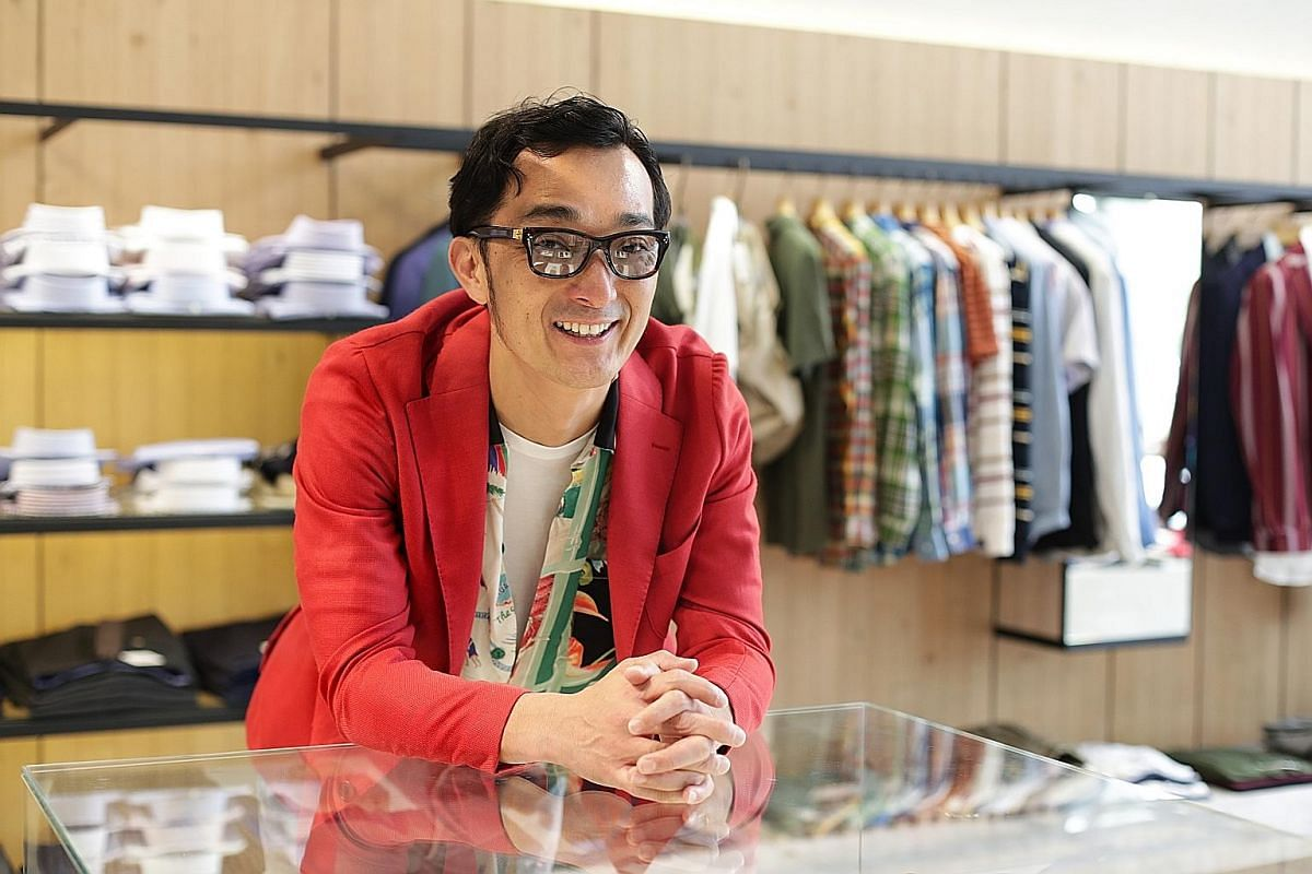 (Far left) Roomwear brand Gelato Pique is poised to enter the local market by next year. (Left) Menswear pieces from Japanese clothing label Tomorrowland have been available at Lumine in Clarke Quay Central since December. Mr Kozo Kawamura's Colony C