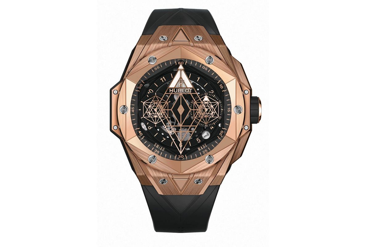The show-stopping Hublot Big Bang Sang Bleu, released in 2016 and designed by Maxime Plescia Buchi, was so well received that he was asked to create a sequel - the recently unveiled Big Bang Sang Bleu II (above, in king gold), a showcase of 3D artist