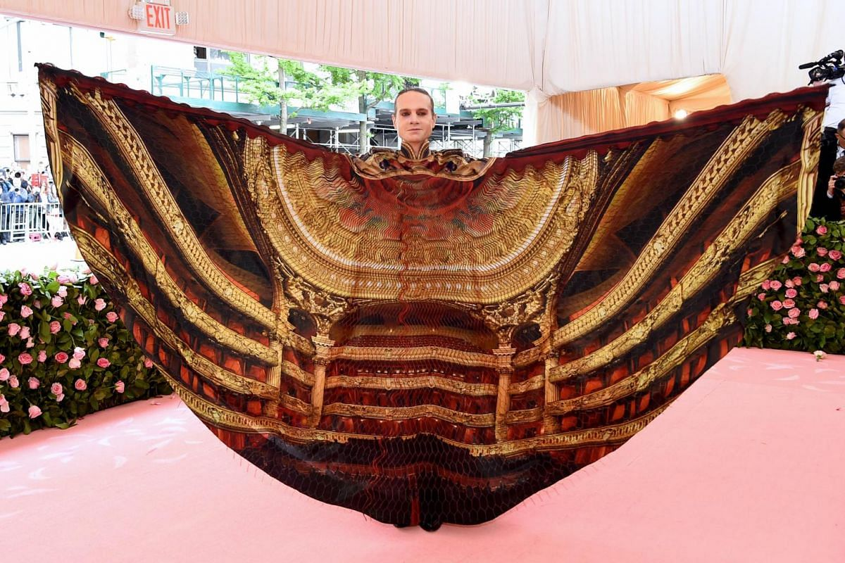 Theatre owner Jordan Roth at the Met Gala, celebrating Camp: Notes On Fashion, at the Metropolitan Museum of Art on May 6, 2019.