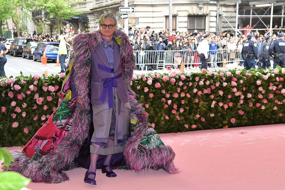 Journalist Hamish Bowles arrives for the Met Gala at the Metropolitan Museum of Art on May 6, 2019.