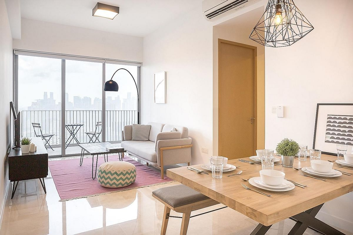 A three-bedroom apartment available for rent from co-living company Login Apartment, which has 16 units in Queenstown, Novena and East Coast.