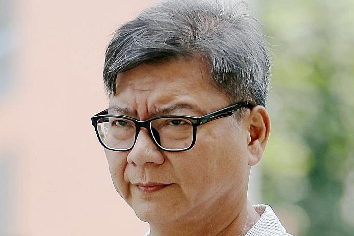 Older brother Shui Poh Sing, 60, was sentenced to three weeks' jail, fined $5,000 and slapped with a penalty of $77,077.91. ST PHOTO: WONG KWAI CHOW