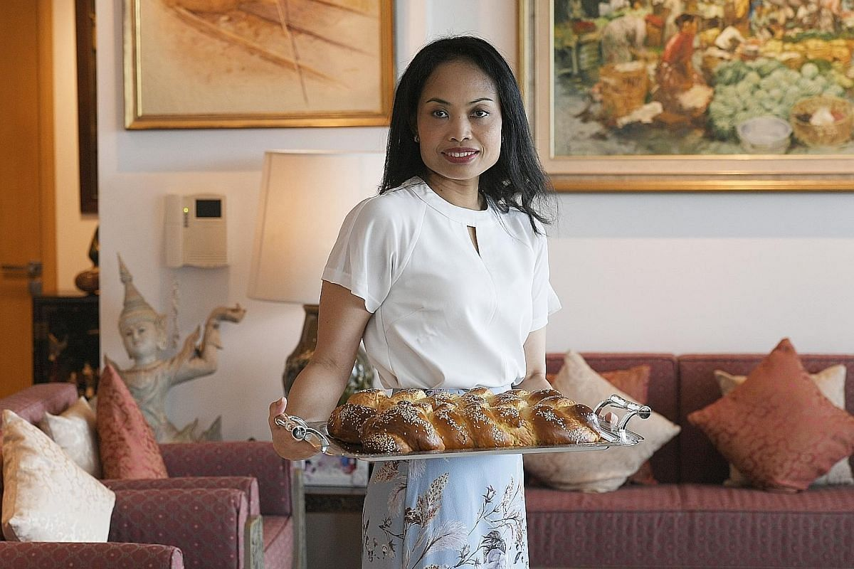 One of the highlights of Mrs Rosita Ezra Goldstein's culinary repertoire is challah bread, which is traditionally eaten for Shabbat meals and major Jewish holidays.