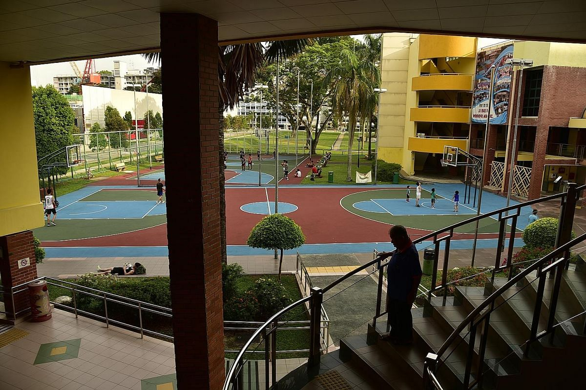 Mountbatten CC's basketball courts, which were used by people of all ages, including foreigners. Many enjoyed playing there as it was a good place to mingle with other players and did not require booking.