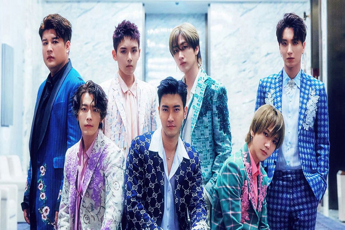 Boy band Super Junior – which include (from left) Shindong, Ryeowook, Eunhyuk, Leeteuk, Yesung, Siwon and Donghae – are part of a two-day K-pop festival to take place at the Singapore Indoor Stadium later this month.