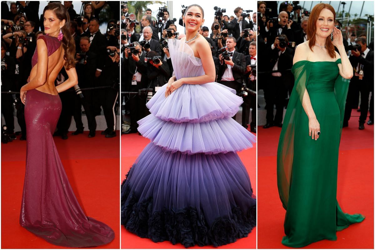 (From left) Model Izabel Goulart, actress Araya A. Hargate and actress Julianne Moore at the 72nd annual Cannes Film Festival.