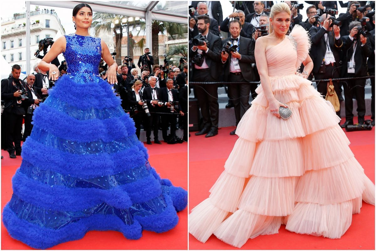 Social media star Farhana Bodi (left) and TV presenter Hofit Golan at the 72nd annual Cannes Film Festival.