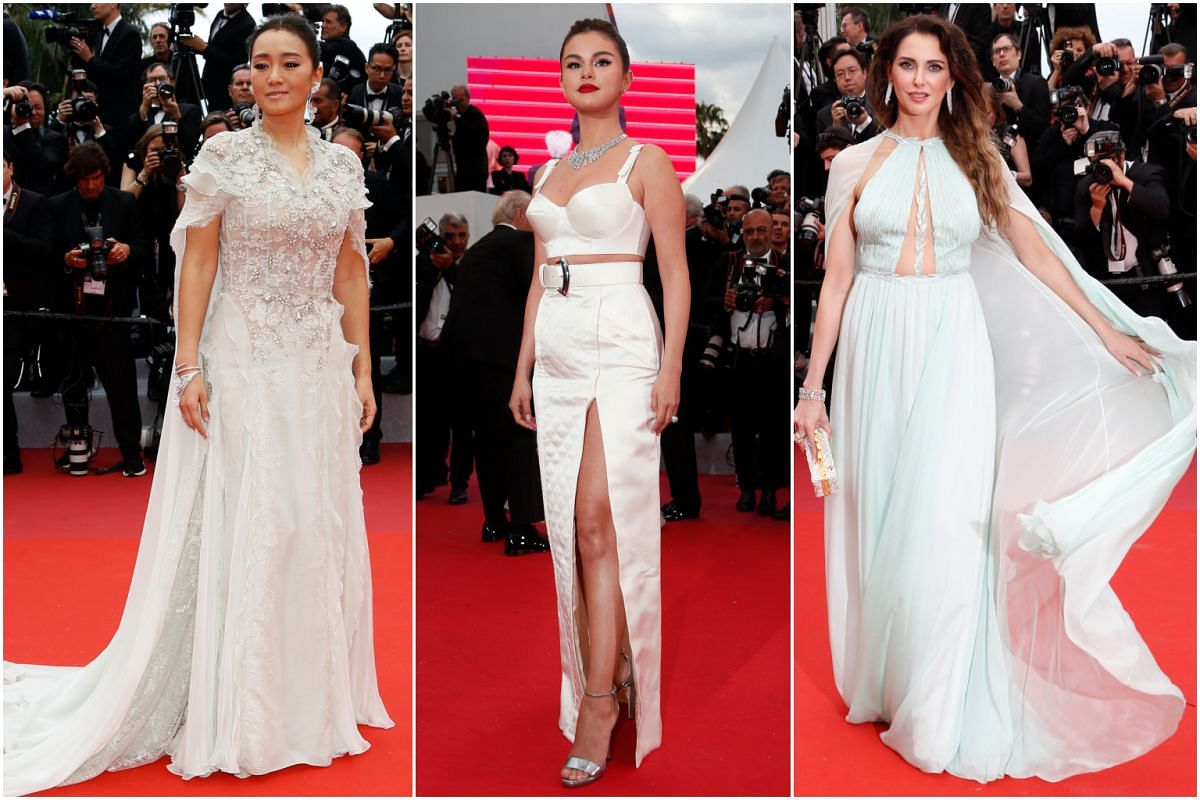 (From left) Actresses Gong Li, Selena Gomez and Frederique Bel at the 72nd annual Cannes Film Festival.