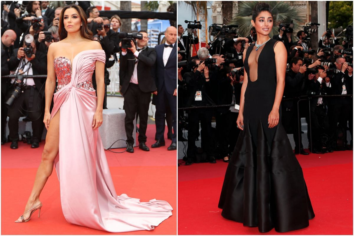 Actresses Eva Longoria (left) and Golshifteh Farahani at the 72nd annual Cannes Film Festival.