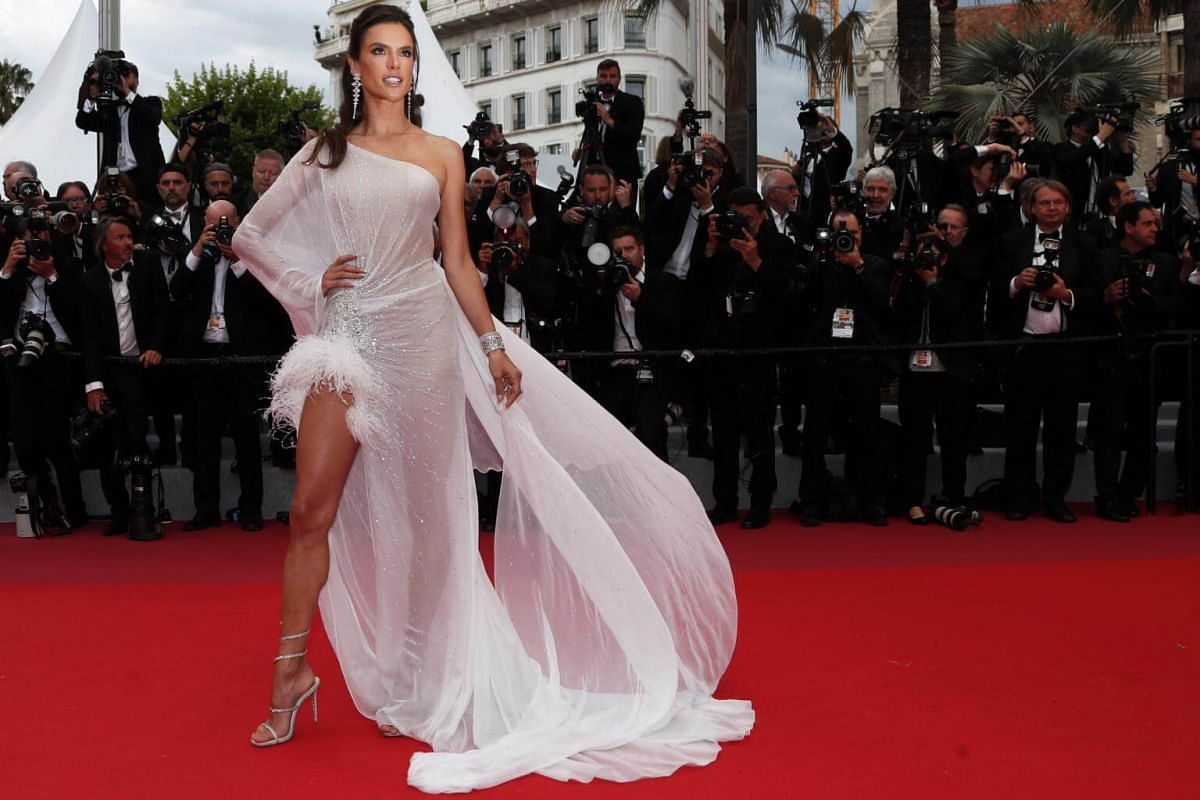 Model Alessandra Ambrosio at the 72nd annual Cannes Film Festival.