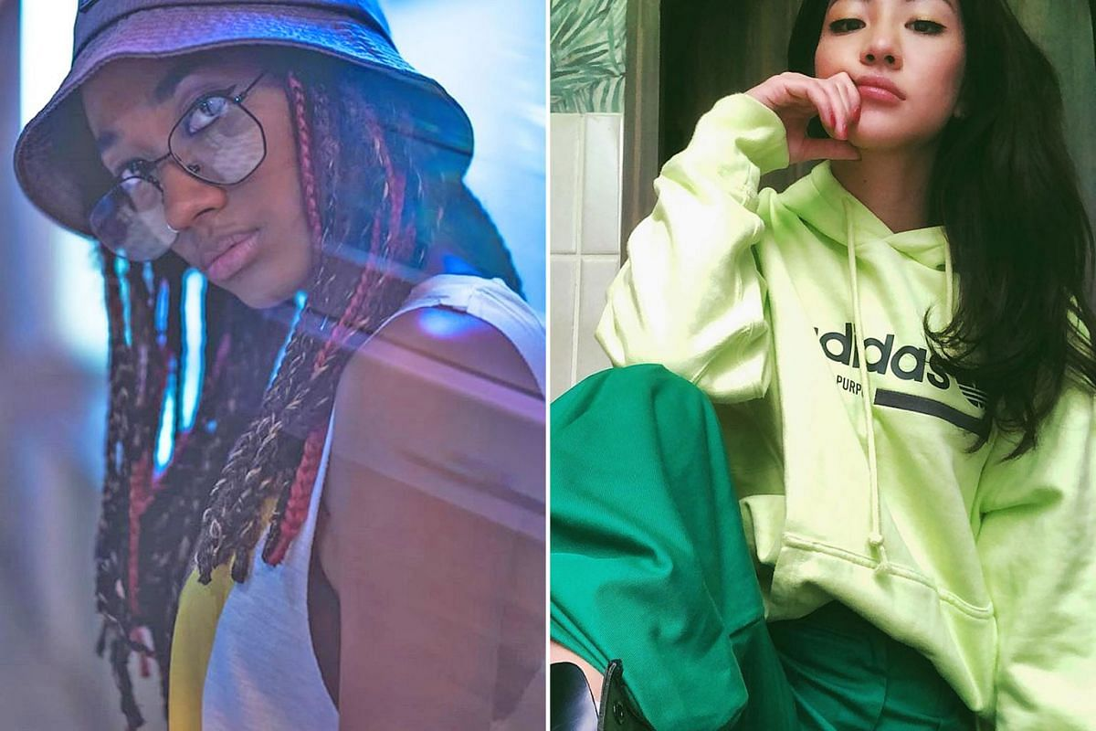 Superga 9TS shoes have a chunky 1990s-inspired design. The Sam Willows' Narelle Kheng (above) in a 1990s get-up. Model Ameerah Smith is among the celebrities who have embraced 1990s fashion.