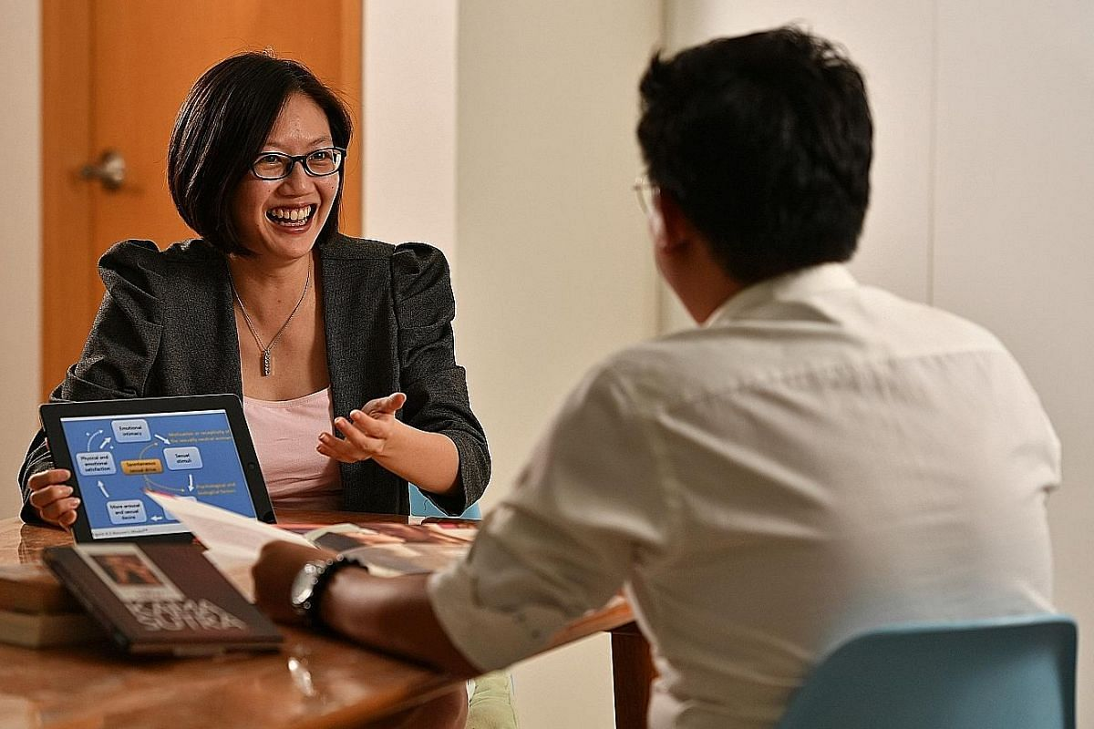 Mr H. See sought help from intimacy coach Angela Tan (left) when he had relationship issues.