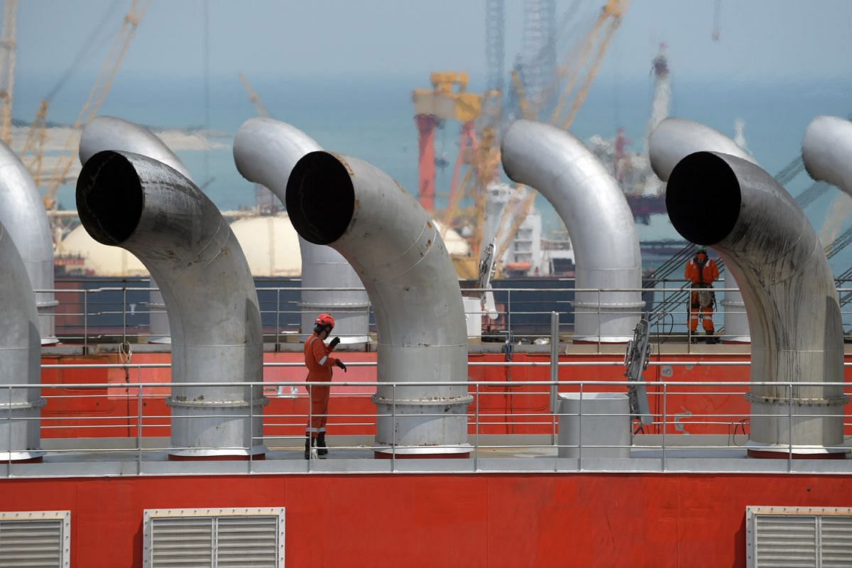 The exhaust stacks on the Sleipnir. The vessel is powered by 12 engines, each capable of generating 8MW of electrical power at 11,000 volts, enough to supply a typical European city of 200,000 inhabitants.