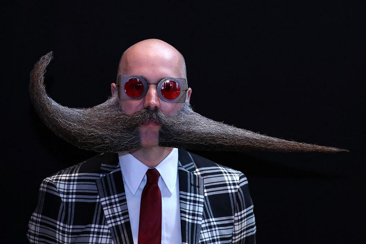 The event recognises those with the most impressive and well-groomed facial hair.
