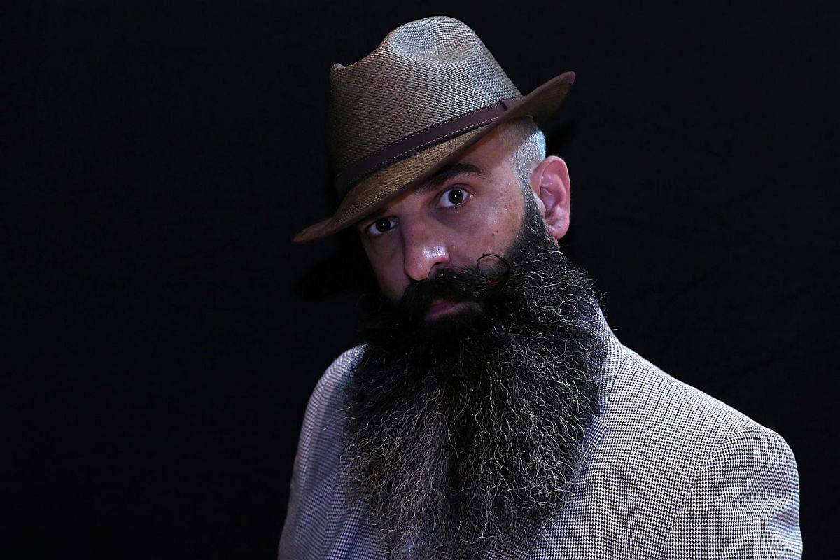 There are three main categories in the competition - moustache, partial beard and full beard - and each has several subcategories.