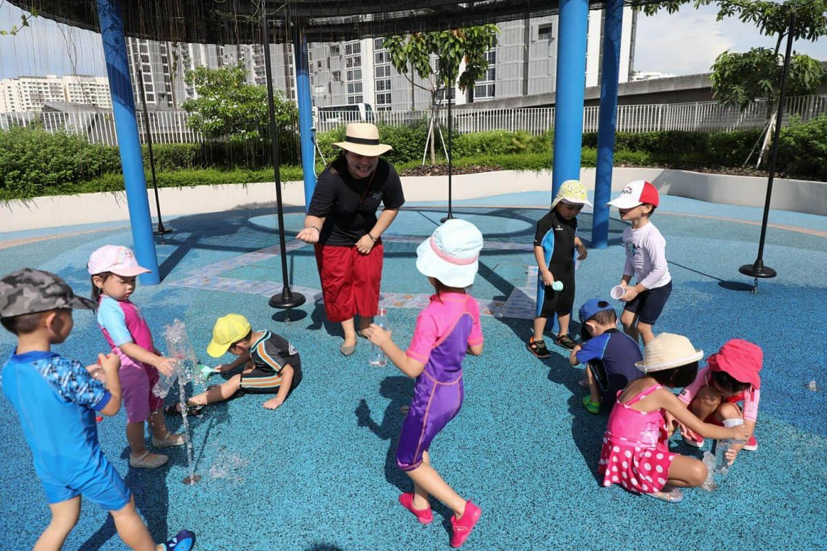 Children playing at the Early Years Centre in Punggol.