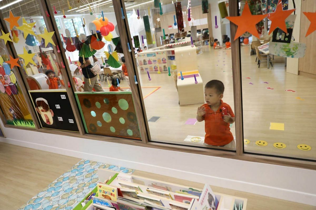A child at the Early Years Centre in Punggol.