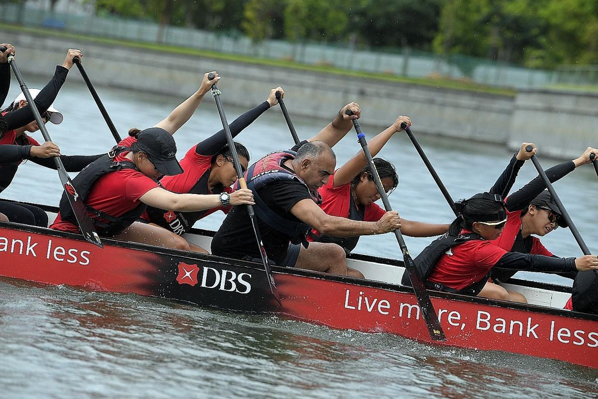 Bodies bending, torsos twisting as they dip and rise in precise unison, the DBS Asia Dragons Ladies Team are seeking their own paddling perfection.