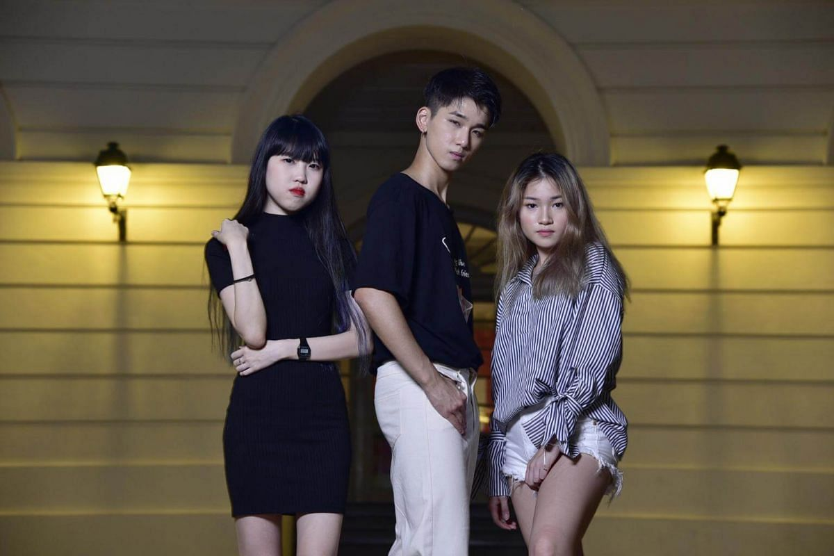 (From left) Ms Desiree Chong, 23, an intern in a tech organisation, Mr Dickson Chow, 21, a freelance model, and Ms Winnie Choy, 18, a student in a private institution.