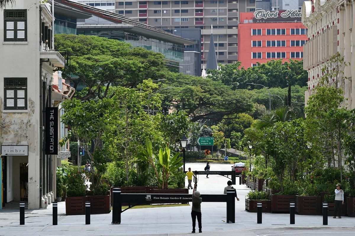 Under a multi-agency project, part of Armenian Street was pedestrianised last year to create a new park and public space for people and events, as part of larger plans to connect Fort Canning Park, Bras Basah, Bugis and the Civic District, to form an