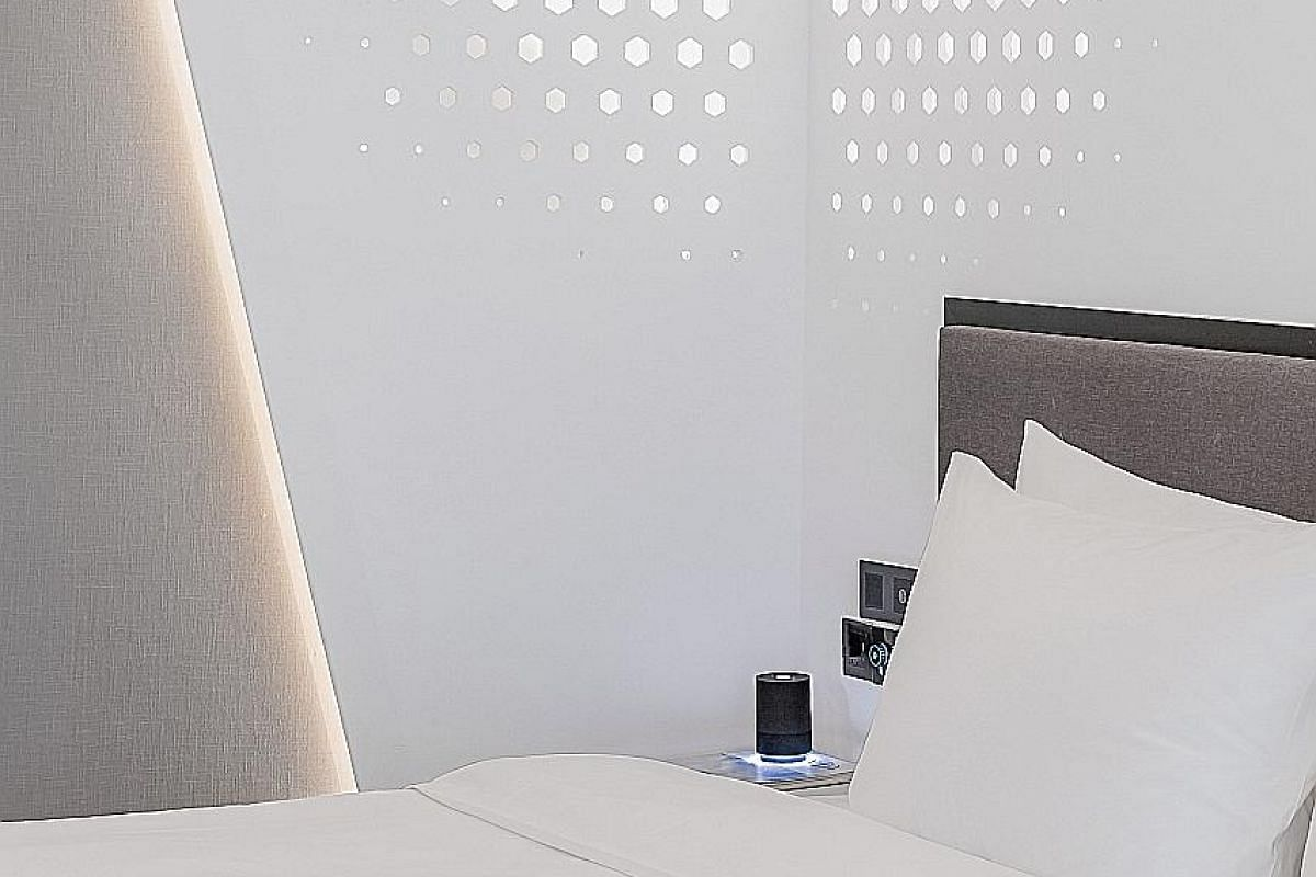4 Control everything from drawing the curtains to dimming the lights to switching off the air conditioner using a voice assistant in the room.