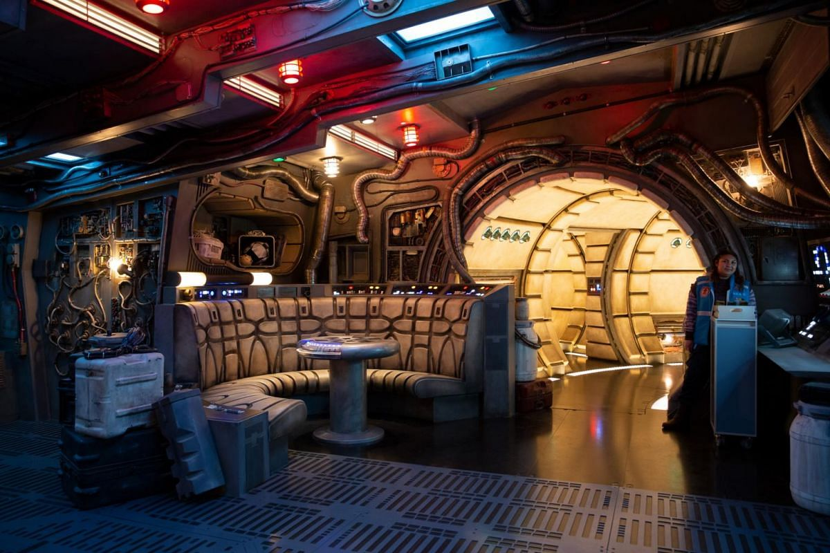 Inside the new Star Wars: Galaxy's Edge expansion at Disneyland Park in Anaheim, California.
