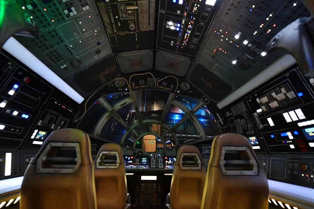 Inside the Millennium Falcon of the Star Wars: Galaxy's Edge at The Disneyland Resort at Disneyland on May 29, 2019, in Anaheim, California.