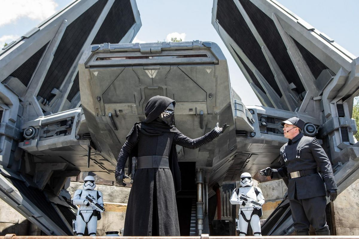 A performance at the new Star Wars: Galaxy's Edge expansion at Disneyland Park in Anaheim, California.