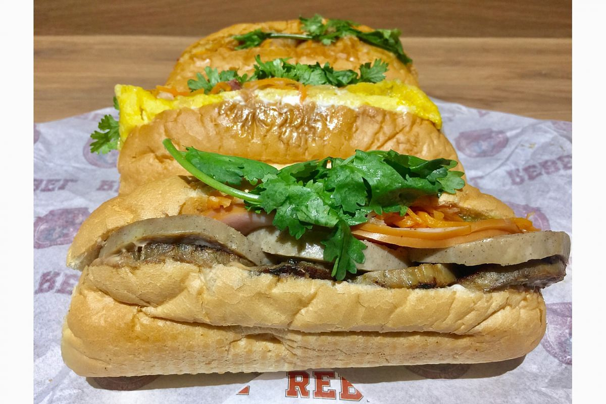 Rebel's Vietnamese banh mi-style sandwiches come with a deliciously tangy Asian slaw of pickled carrots and cabbage and fluffy bread.
