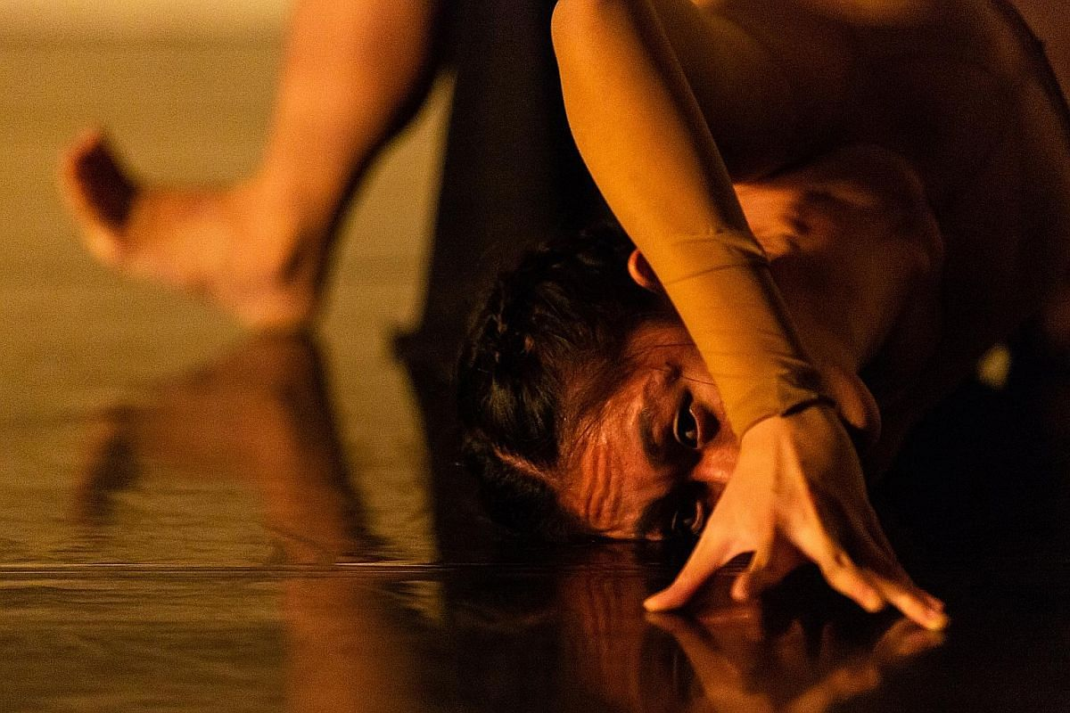 Namuh by Singapore dancer Amelia Chong (above) is an exploration of the perceived dichotomy of the human body.