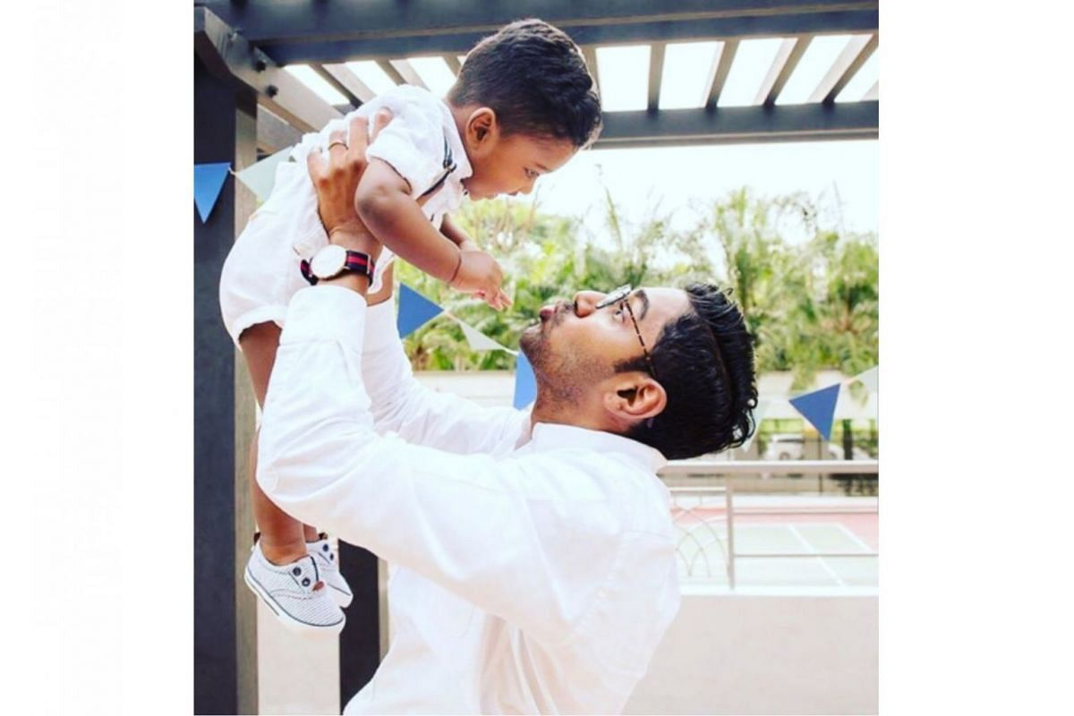 Lawyer Sivakumar Ramasamy believes in an active fathering approach with his son James, who is almost three.