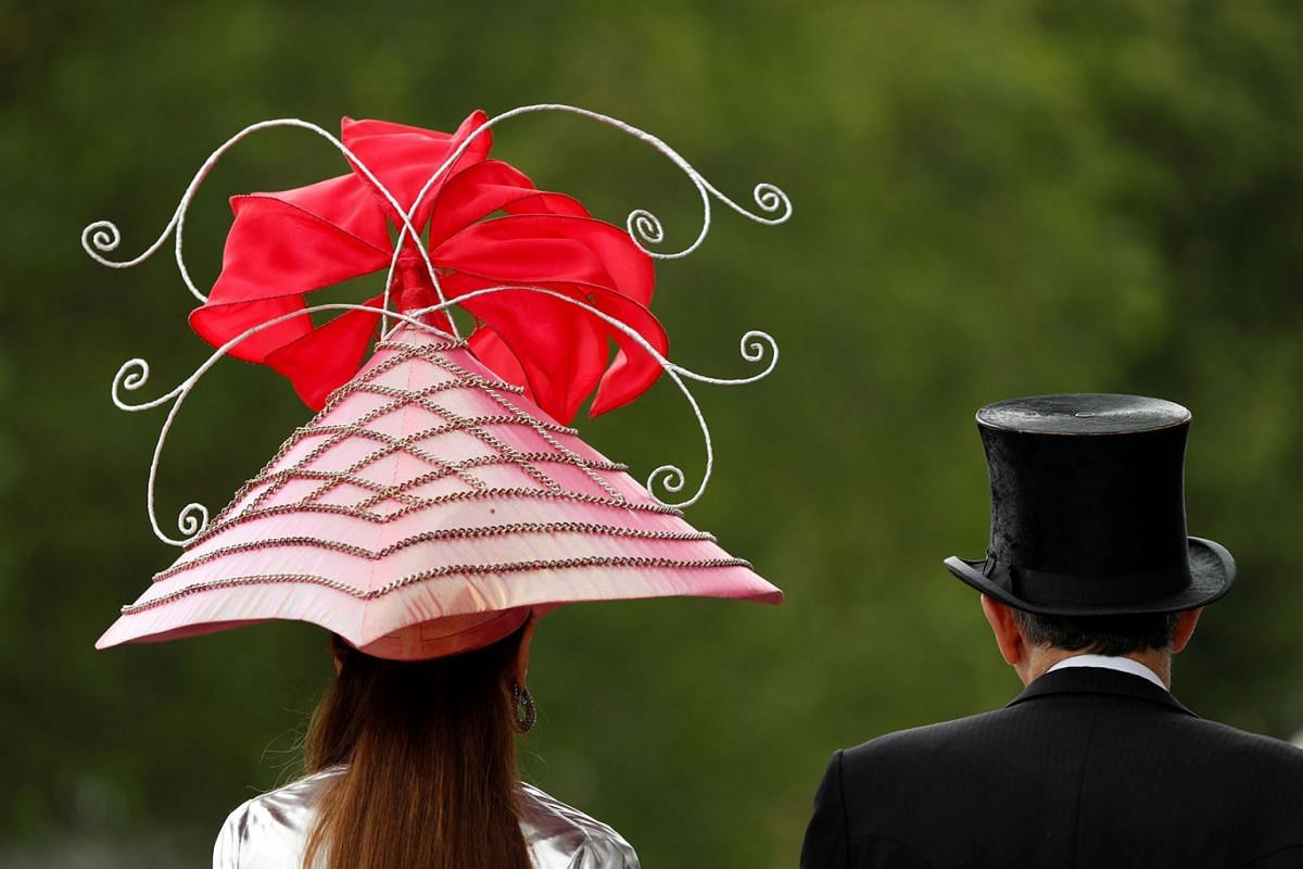 Racegoers at the Royal Ascot horse races in Ascot, Britain on June 19, 2019. PHOTO: ACTION IMAGES VIA REUTERS
