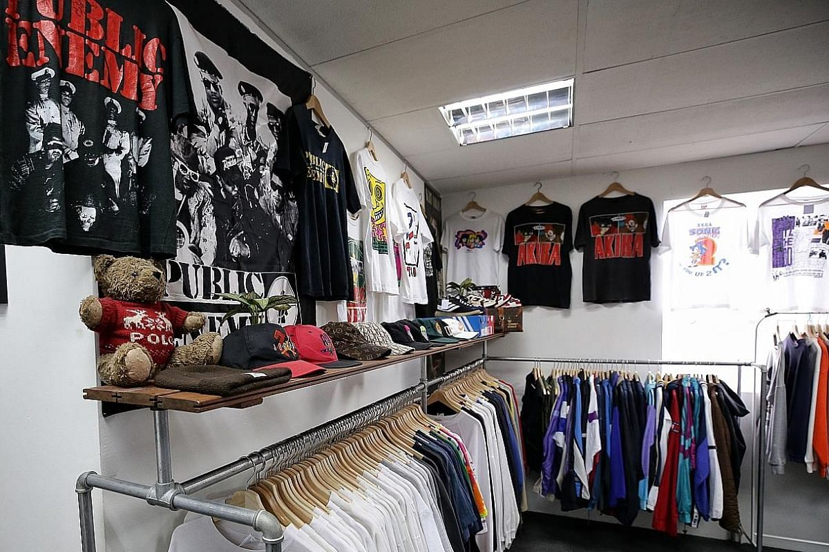 Shop from the racks of 1980s and 1990s streetwear apparel or look out for pre-loved luxury labels at Wholly Vintage in Eunos.