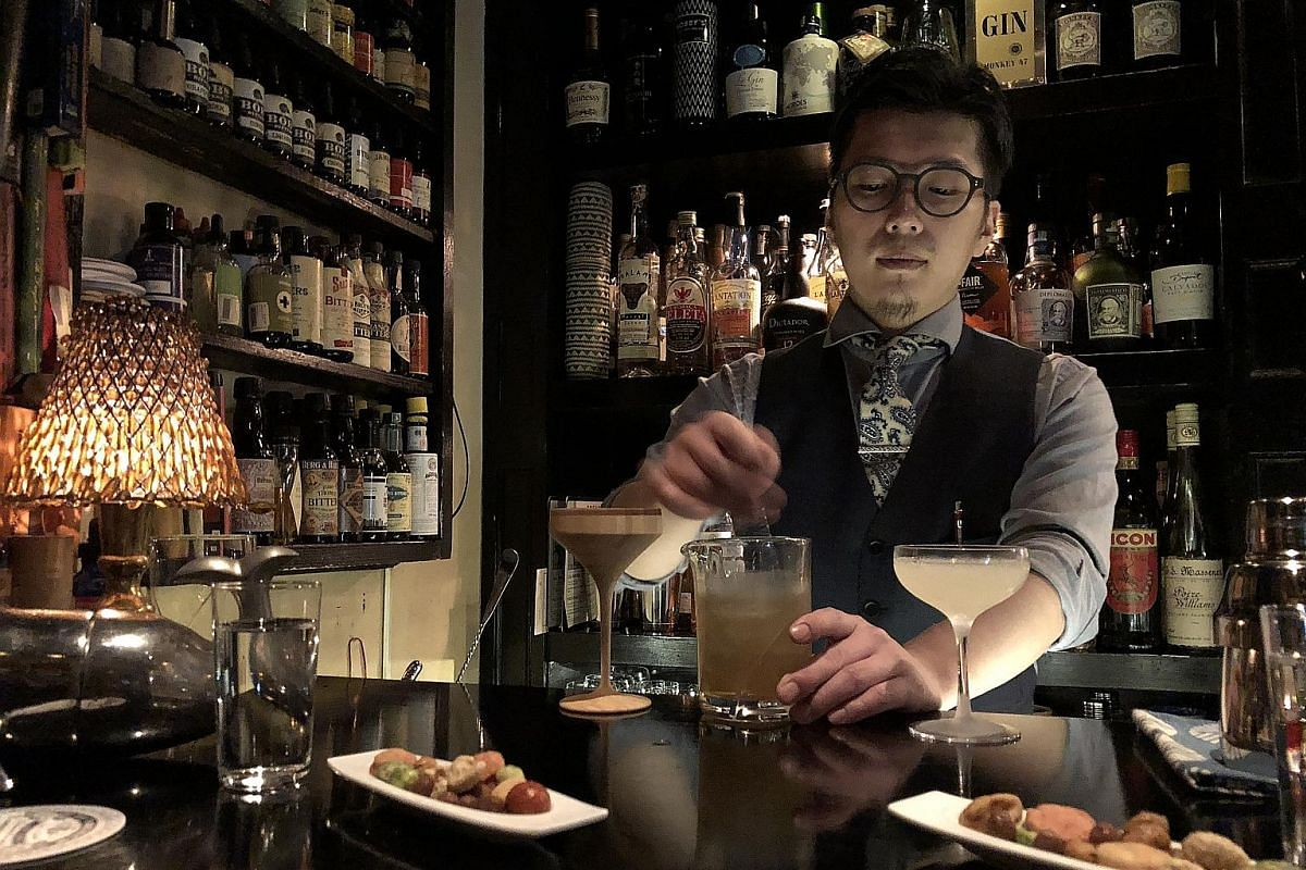 Bar Trench in Shibuya and its staff look like they come straight out of a film noir.