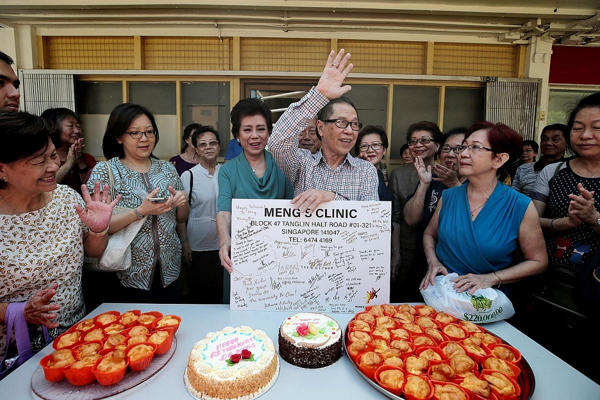 Patients (above) at Meng's Clinic last week. The clinic's reception is manned by Madam Doreen Tan (below), who is in her 70s. She has worked there for over 30 years and knows almost all the patients by name. Dr Chan and his wife of 15 years, Madam Sa