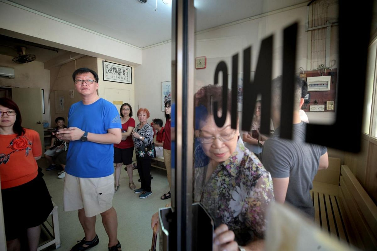 Well-wishers throng Meng's Clinic, hoping to meet Dr Chan Khye Meng, during a thank you event on June 23, 2019.