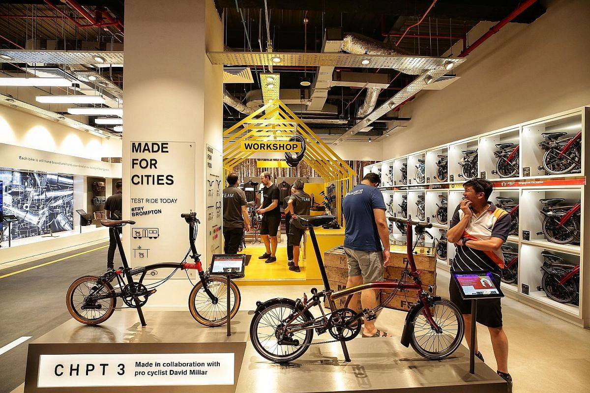 British folding bike brand Brompton debuts its South-east Asia flagship store, Brompton Junction, which is designed to look like a bicycle workshop.