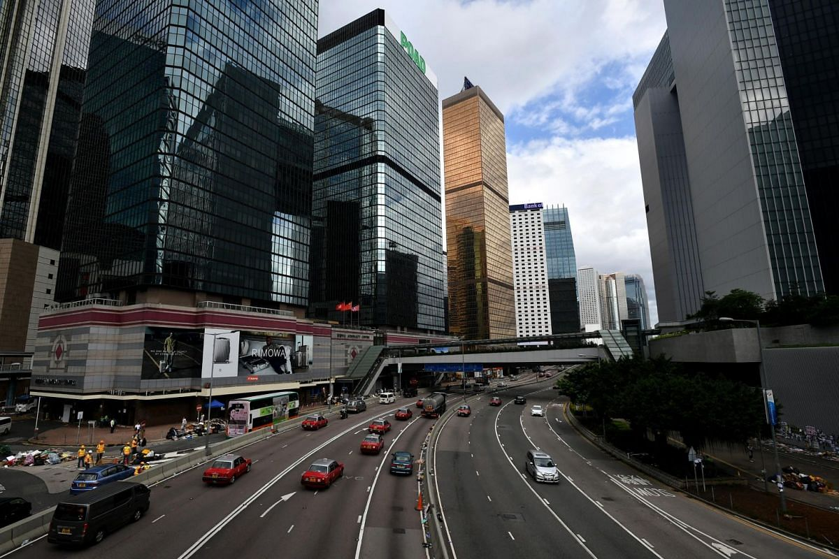 Smooth traffic along Harcourt Road between Admiralty Centre and the Central Government Complex, on July 2, 2019.