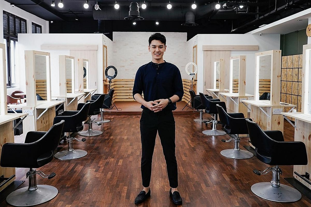 Salon owner Noel Ng says his time at ITE opened his eyes to hairdressing and he learnt there is more to it than just heartland mall salons.