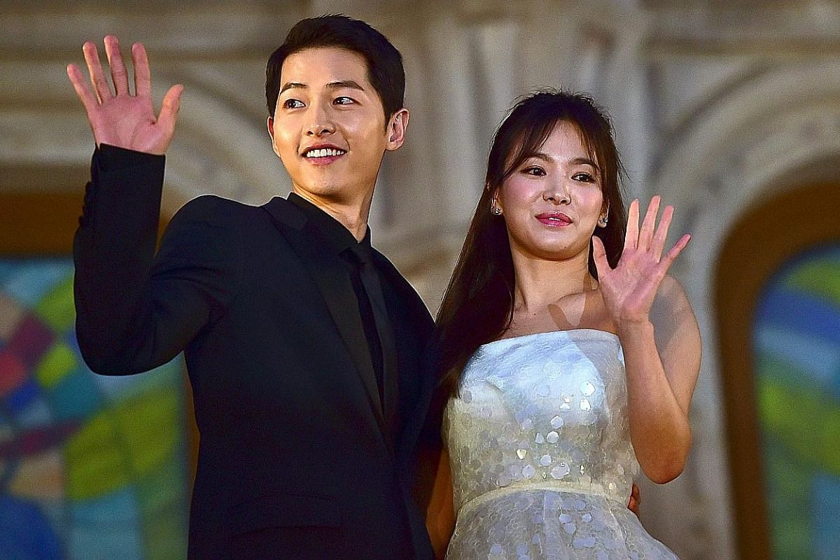 The couple Song Joong-ki and Song Hye-kyo (both above) sizzled with red-hot chemistry on the 2016 K-drama hit, Descendants Of The Sun.