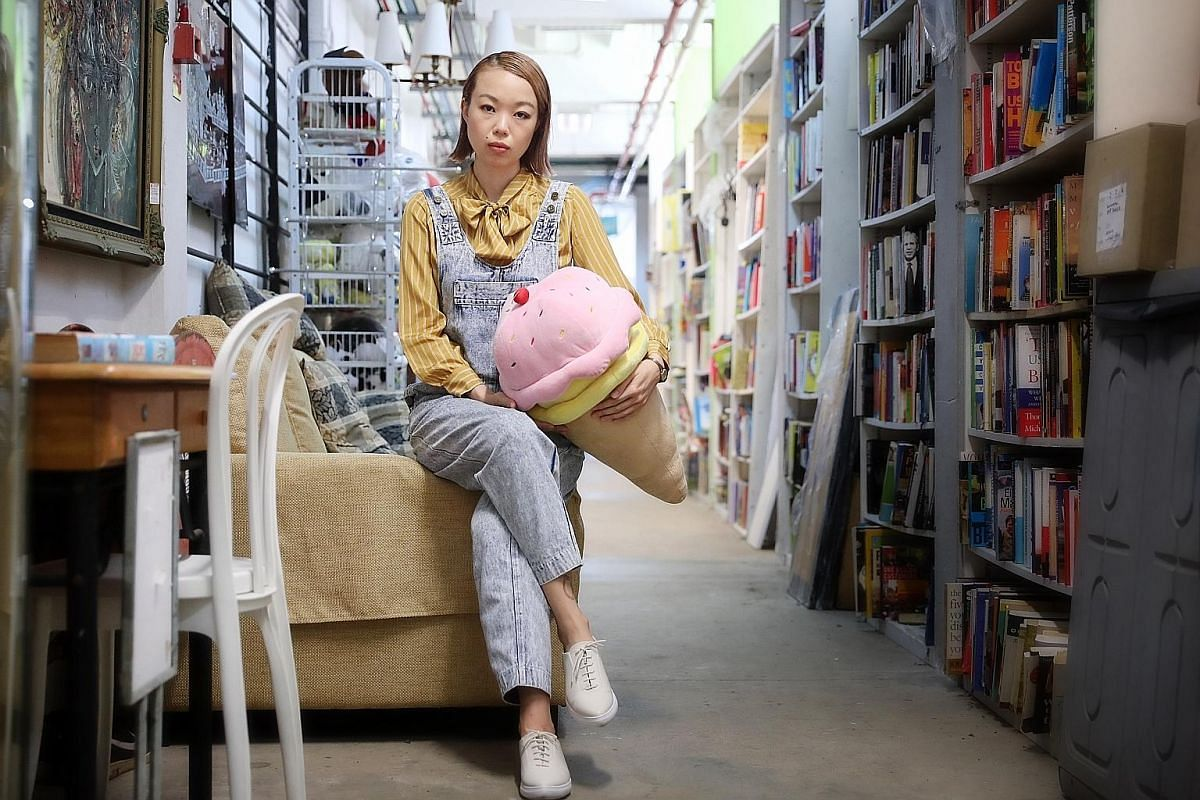 Author Amanda Lee Koe in The Salvation Army's Tanglin store, where she used to scour for vintage clothing when she was young.