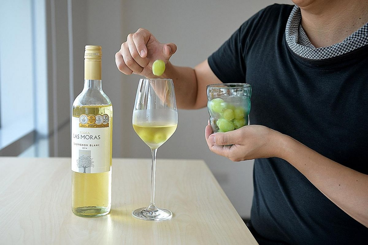 Freeze grapes to use as ice cubes for drinking wine.