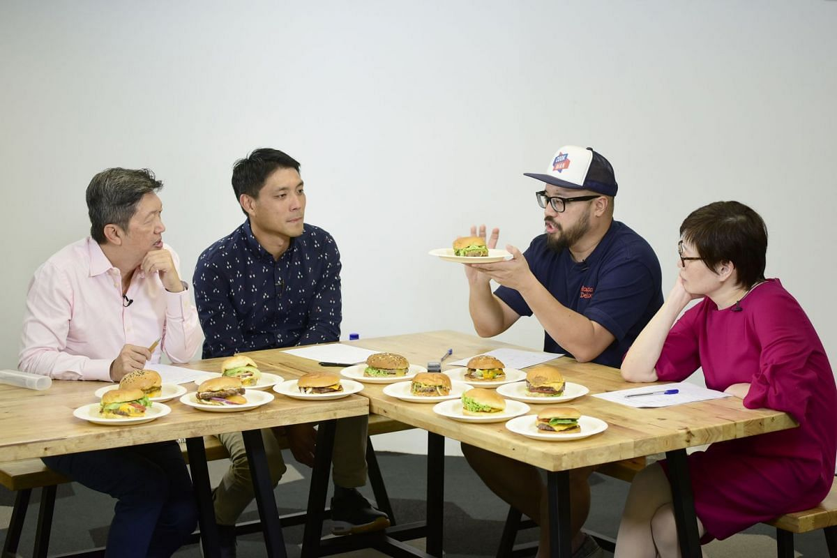 The judging panel featured (from left) The Sunday Times' senior food correspondent Wong Ah Yoke; Violet Oon Singapore's director of operations Tay Yiming; Artichoke restaurant's chef-owner Bjorn Shen; and The Sunday Times' food editor Tan Hsueh Yun.