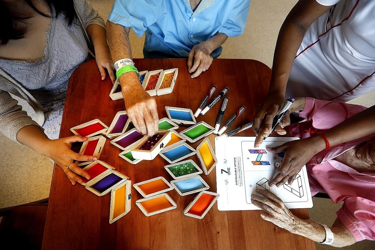 Social interaction and activities at enrichment classes can help dementia patients slow their cognitive decline.